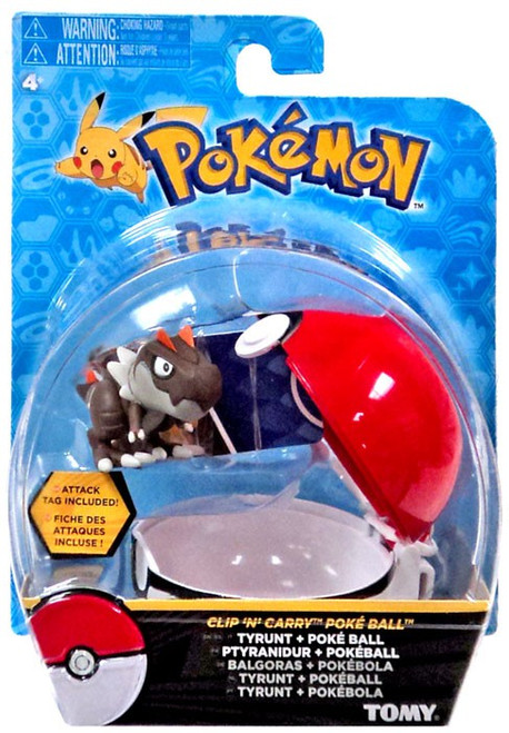 Pokemon Clip n Carry Pokeball Tyrunt with Poke Ball Figure Set