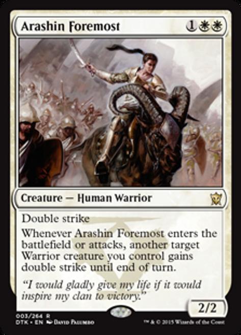 MtG Dragons of Tarkir Rare Arashin Foremost #3