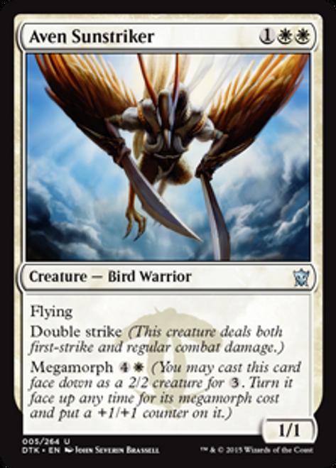MtG Dragons of Tarkir Uncommon Aven Sunstriker #5