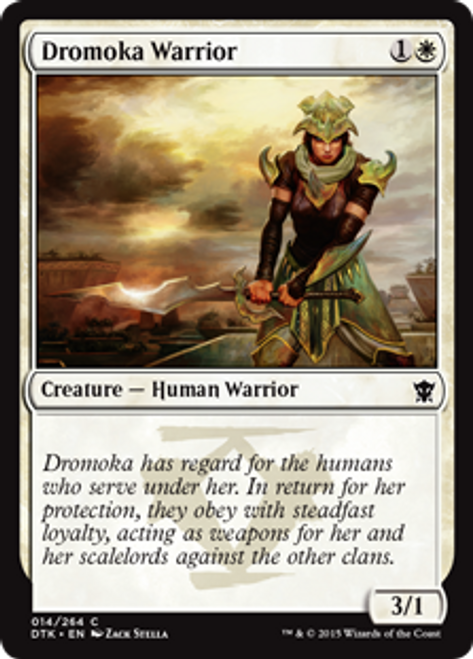 MtG Dragons of Tarkir Common Dromoka Warrior #14