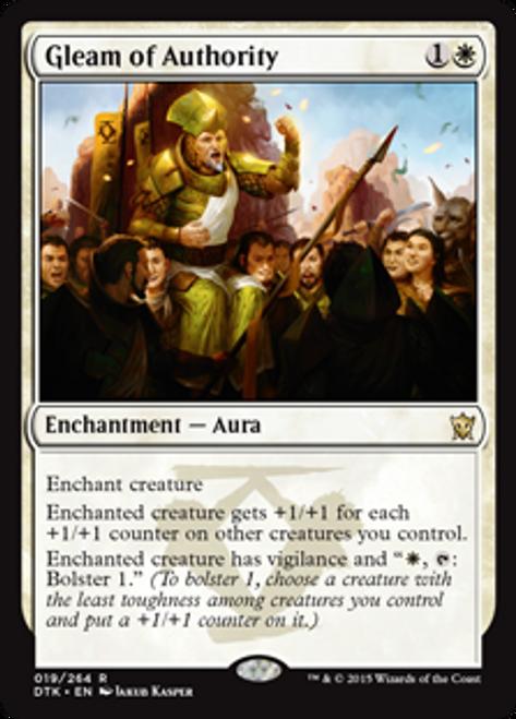 MtG Dragons of Tarkir Rare Gleam of Authority #19