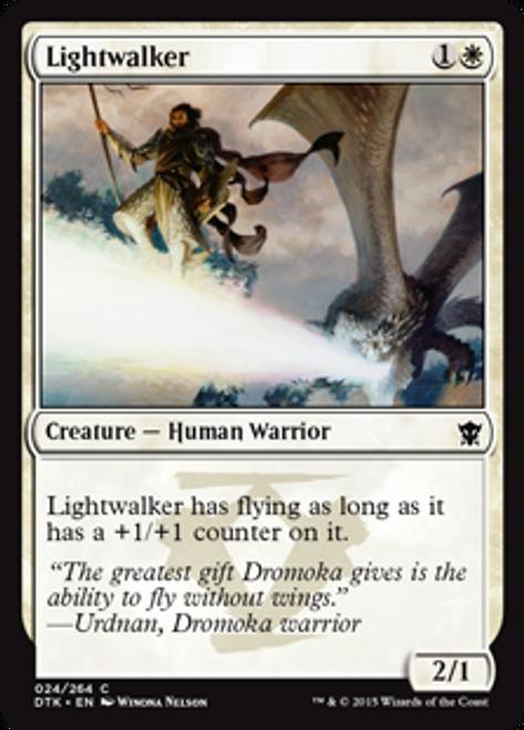 MtG Dragons of Tarkir Common Lightwalker #24