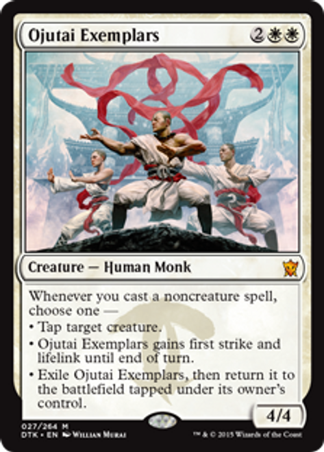 MtG Dragons of Tarkir Mythic Rare Ojutai Exemplars #27