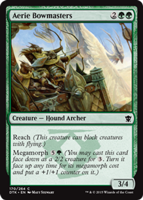 MtG Dragons of Tarkir Common Aerie Bowmasters #170