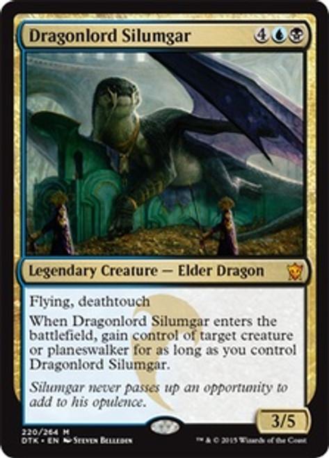 MtG Dragons of Tarkir Mythic Rare Dragonlord Silumgar #220