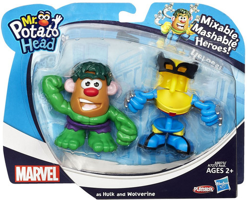 Marvel Playskool Mixable, Mashable Heroes! Hulk & Wolverine Mini Mr. Potato Head