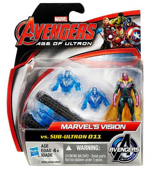 Avengers Age of Ultron Marvel's Vision vs Sub Ultron 011 Action Figure 2-Pack