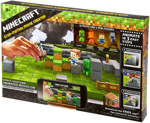 Minecraft Grass Series 1 Stop Motion Movie Creator Playset [Green Box]