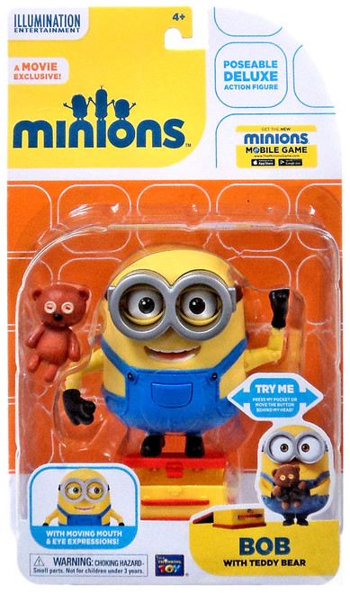 Despicable Me Minions Movie Bob with Teddy Bear Action Figure