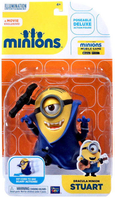 Despicable Me Minions Movie Dracula Minion Stuart Action Figure