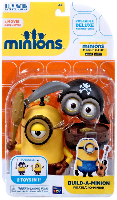 Despicable Me Minions Movie Build-A-Minion Pirate / Cro-Minion Action Figure