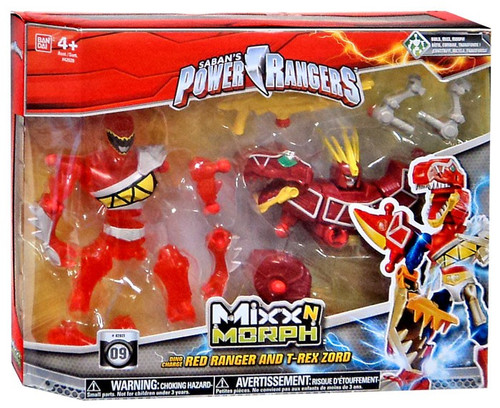 Power Rangers Dino Charge Mixx N Morph Red Ranger & T-Rex Zord Action Figure
