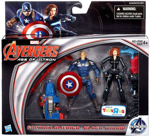 Marvel Avengers Age of Ultron Captain America & Black Widow Exclusive Action Figure 2-Pack