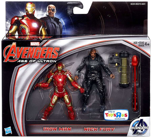 Marvel Avengers Age of Ultron Iron Man & Nick Fury Exclusive Action Figure 2-Pack