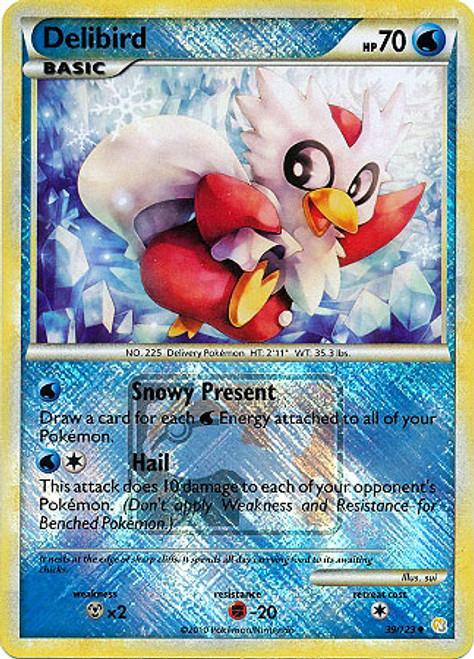 Trading Card Game Pokemon League Promo Uncommon Holo Delibird #39