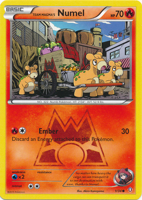 Pokemon X & Y Double Crisis Common Team Magma's Numel #1