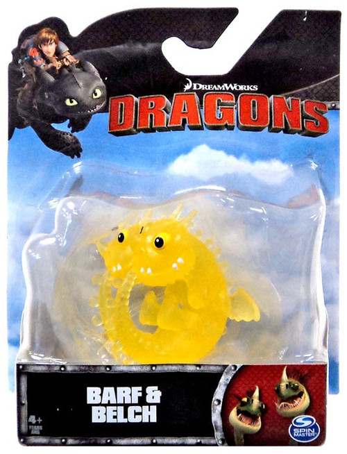 How to Train Your Dragon Dragons Barf & Belch 3-Inch Mini Figure [Clear Yellow]