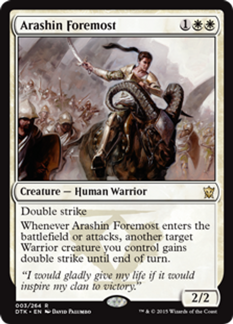 MtG Dragons of Tarkir Rare Foil Arashin Foremost #3