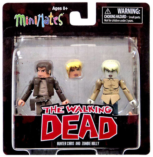 The Walking Dead Comic Minimates Series 7 Hunter Chris & Zombie Holly Minifigure 2-Pack