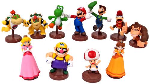 Super Mario Bros Collection Set of 11 1.5-Inch Mini Figures [Orange Capsule]