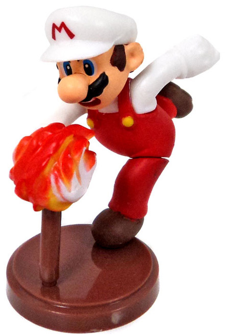Super Mario Bros Fire Mario 1.5-Inch PVC Figure