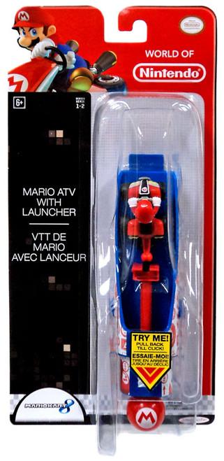 World of Nintendo Mario Kart 8 Mario ATV with Launcher