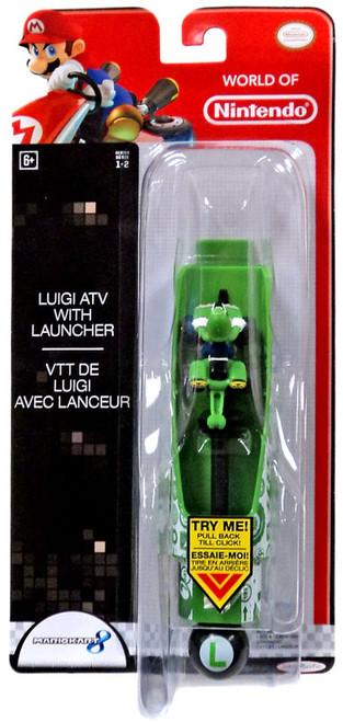 World of Nintendo Mario Kart 8 Luigi ATV with Launcher