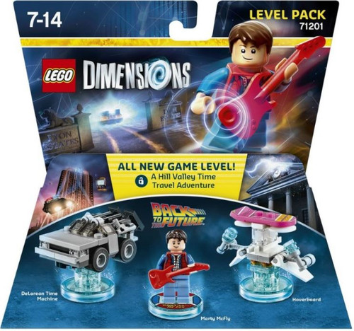 LEGO Dimensions Back to the Future Delorean, Marty McFly & Hoverboard Level Pack #71201