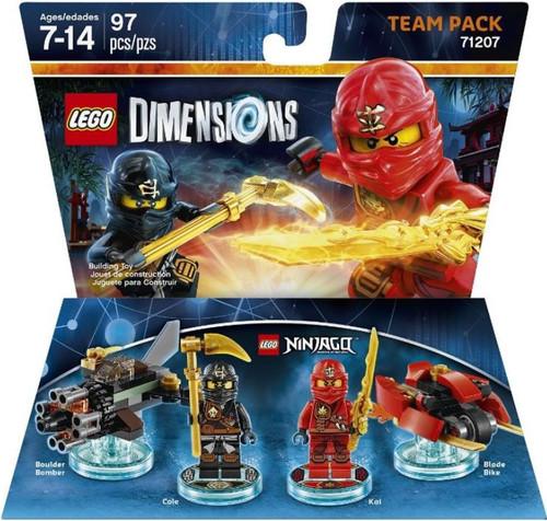 LEGO Dimensions Ninjago Boulder, Cole, Kai & Blade Team Pack #71207