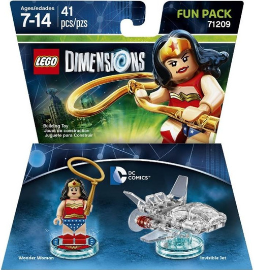 LEGO Dimensions DC Comics Wonder Woman & Invisible Jet Fun Pack #71209