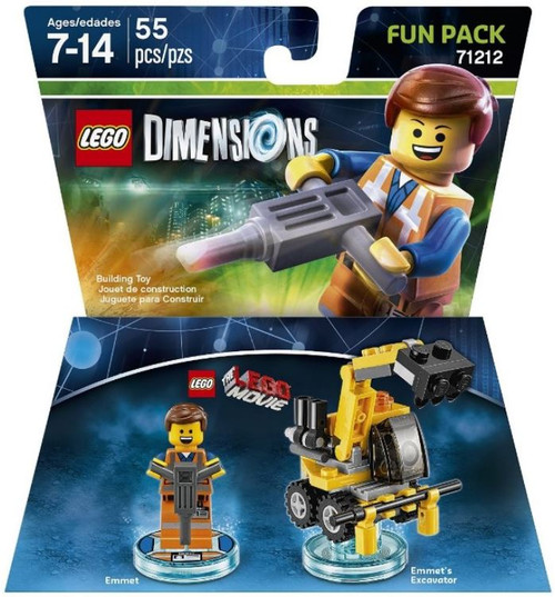 LEGO Dimensions The LEGO Movie Emmet & Excavator Fun Pack #71212