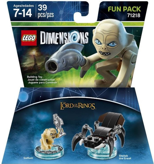 LEGO Dimensions The Lord of the Rings Gollum & Shelob the Great Fun Pack #71218