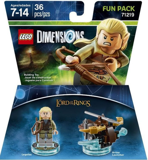LEGO Dimensions Lord of the Rings Legolas & Arrow Launcher Fun Pack #71219