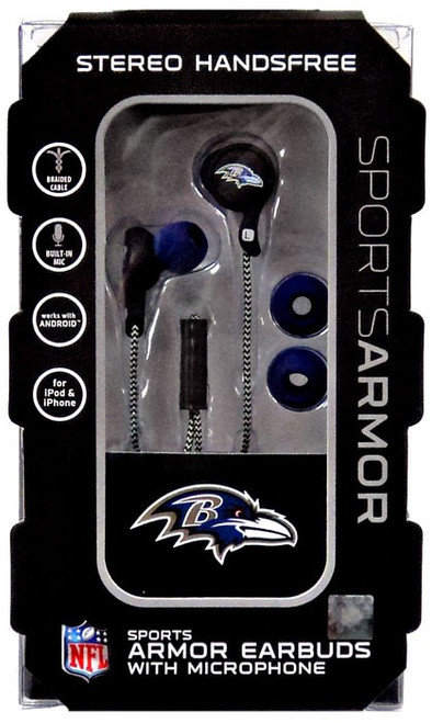 NFL Sports Armor Baltimore Ravens Earbuds [with Microphone]