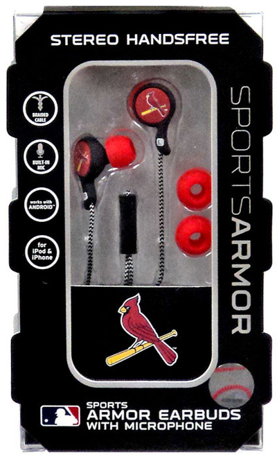 MLB Sports Armor St. Louis Cardinals Earbuds [with Microphone]