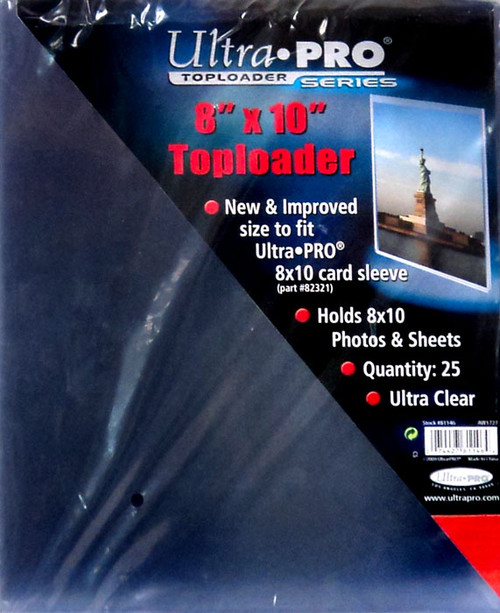 """Ultra Pro Card Supplies Toploader Series 8"""" X 10"""" Toploader Card Holders [25 Count]"""