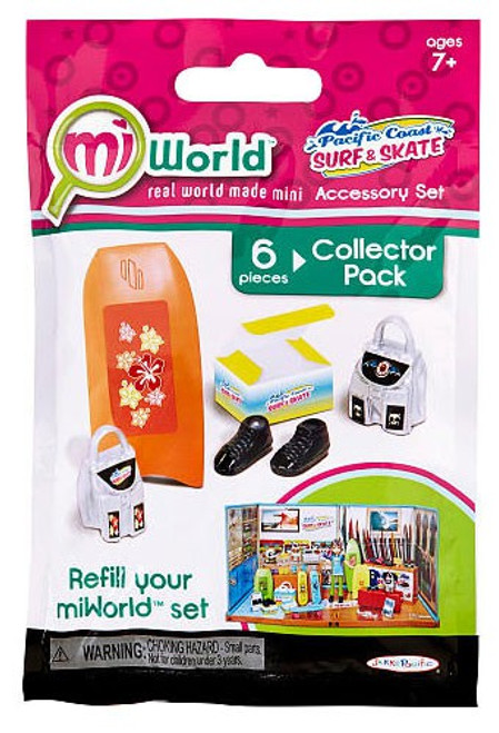 MiWorld Pacific Coast Surf & Skate Set #1 Collector Pack [Boogie Board]