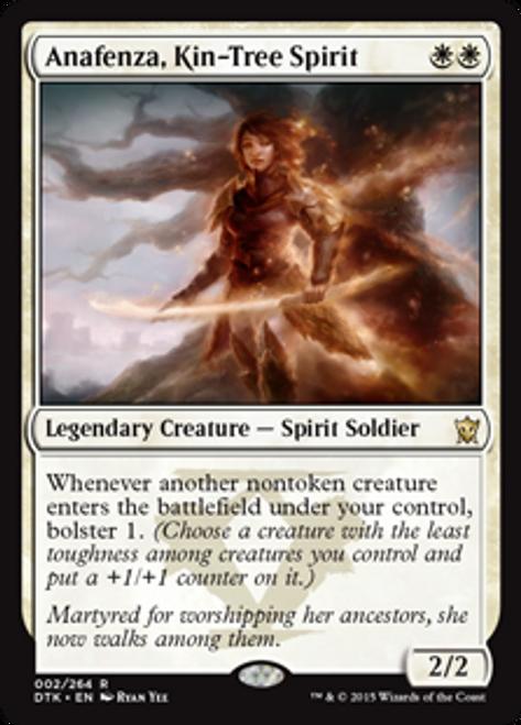 MtG Dragons of Tarkir Rare Foil Anafenza, Kin-Tree Spirit #2