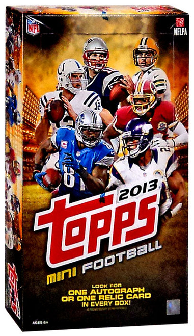 NFL Topps 2013 Mini Football Trading Card HOBBY Box [24 Packs, 1 Autograph OR Relic Card!]