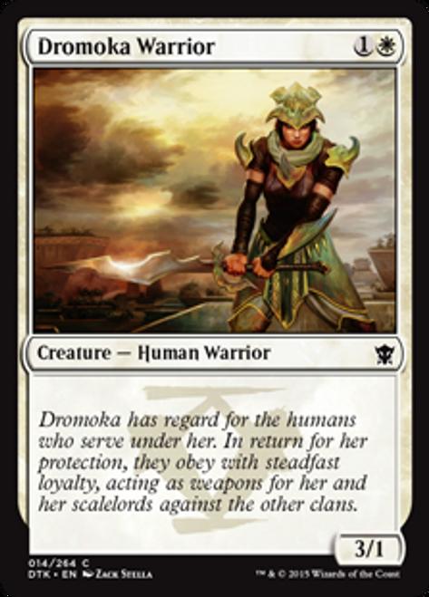MtG Dragons of Tarkir Common Foil Dromoka Warrior #14