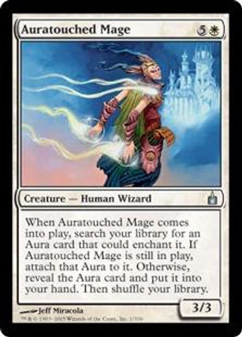 MtG Ravnica: City of Guilds Uncommon Foil Auratouched Mage #1