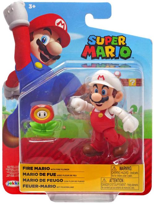 World of Nintendo Fire Mario Action Figure [RANDOM Package, Same Contents!]