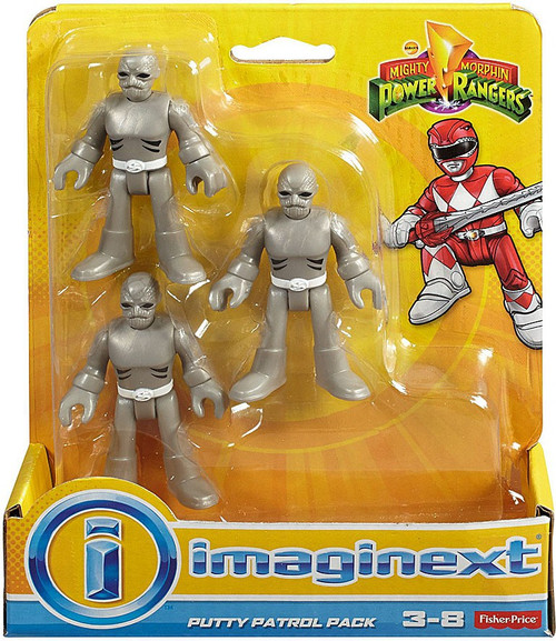 Fisher Price Power Rangers Imaginext Mighty Morphin Putty Patrol Mini Figure 3-Pack