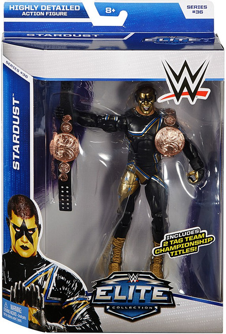 WWE Wrestling Elite Collection Series 36 Stardust Action Figure [2 Tag Team Championship Titles]
