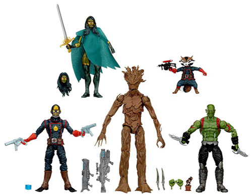 Marvel Legends Guardians of the Galaxy Comic Edition Exclusive Action Figure 5-Pack [Groot, Drax, Rocket, Star Lord, Gamora & Baby Groot]