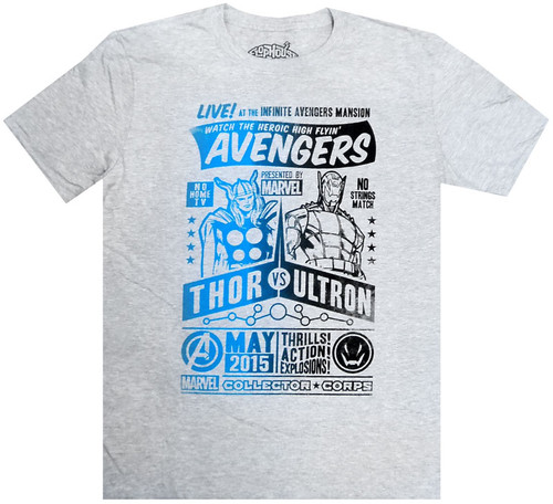 Marvel Avengers Collector Corps Thor vs. Ultron Exclusive T-Shirt [Large]