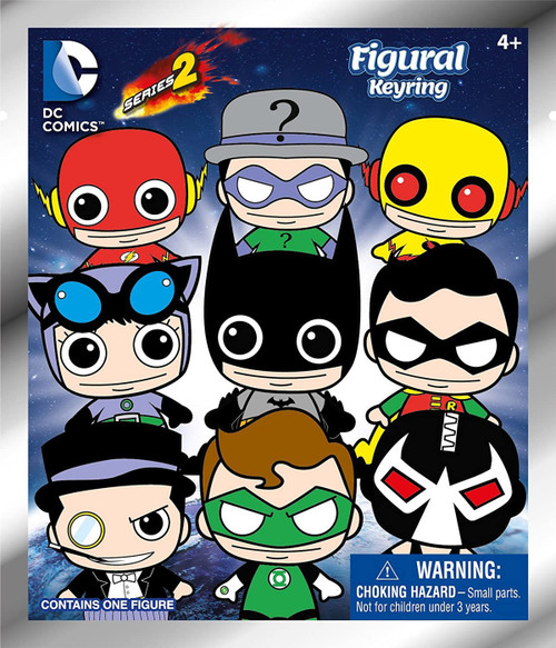 3D Figural Keyring DC Series 2 Mystery Pack [1 RANDOM Figure]