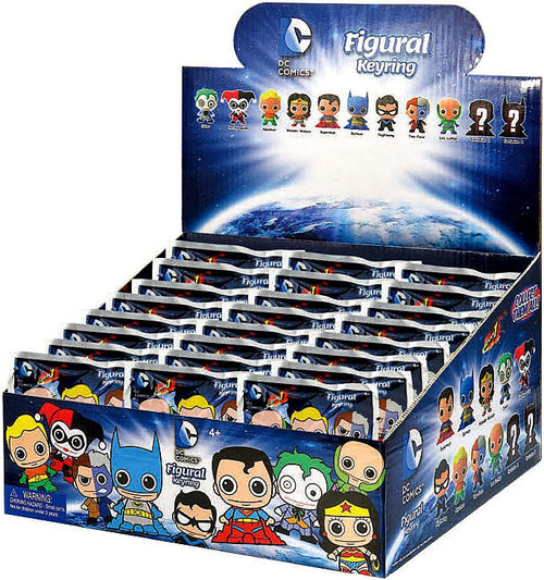 3D Figural Keyring DC Series 1 Mystery Box [24 Packs]