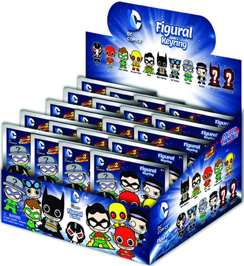 3D Figural Keyring DC Series 2 Mystery Box [24 Packs]