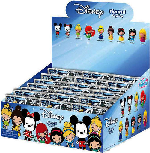 3D Figural Keyring Disney Series 1 Mystery Box [24 Packs]